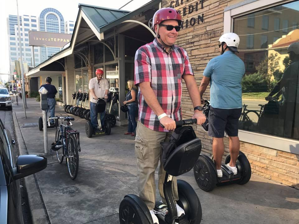 YNOT's Rochard on Segway tour