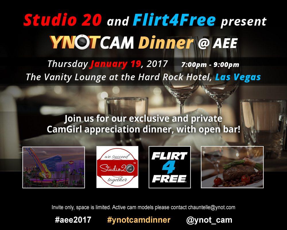 YNOT Cam Dinner at AEE