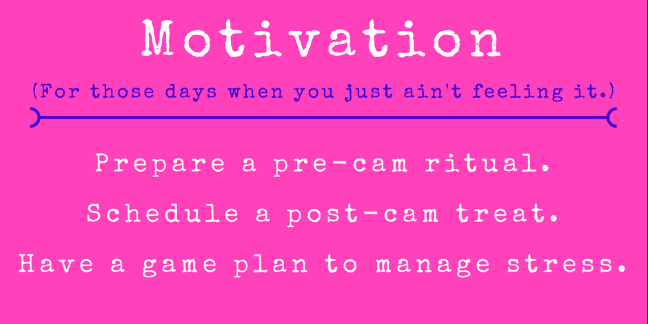prepare ahead to get motivation moving